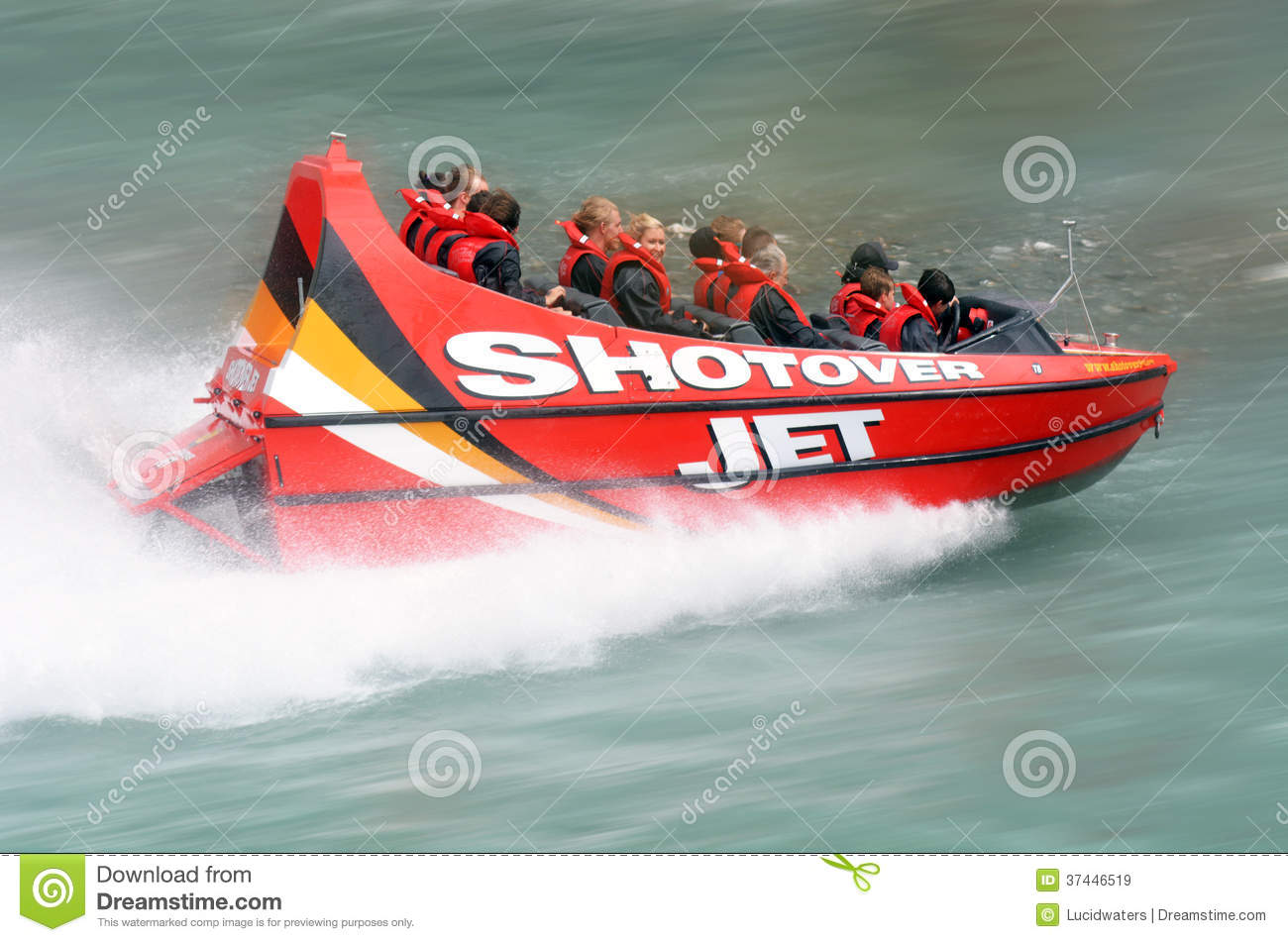 High Speed Jet Boat Ride - Queenstown NZ Editorial Stock Image - Image: 37446519