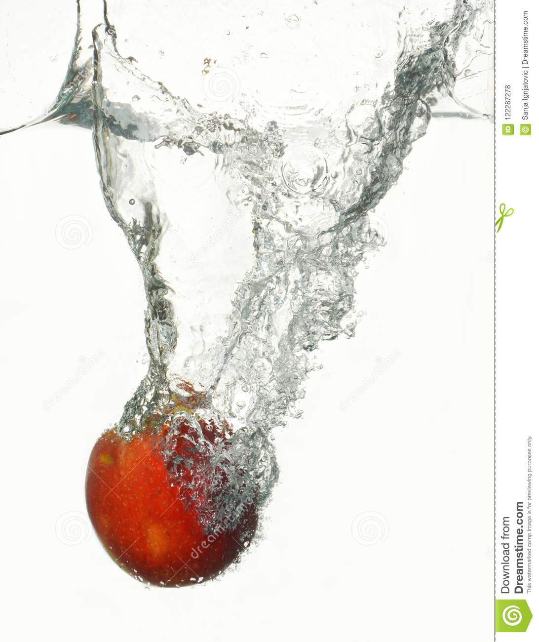 High-speed red apple
