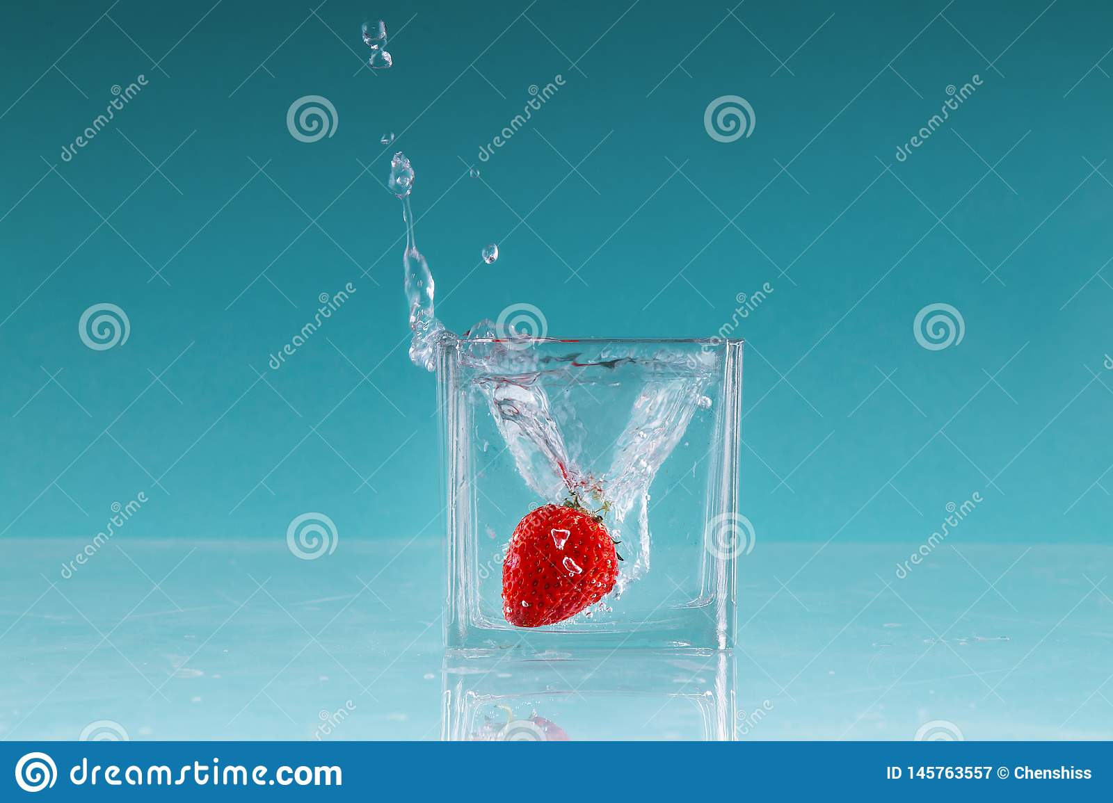 Strawberry fruit High speed photography