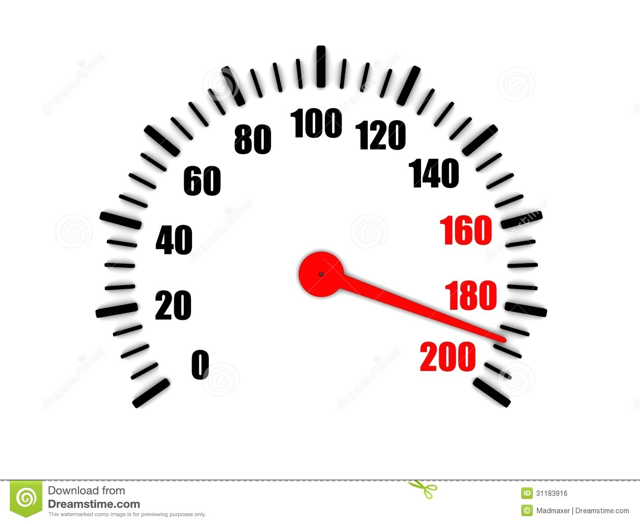 Royalty Free Stock Image High Speed Speedometer D Image View Image31183916 on driving car