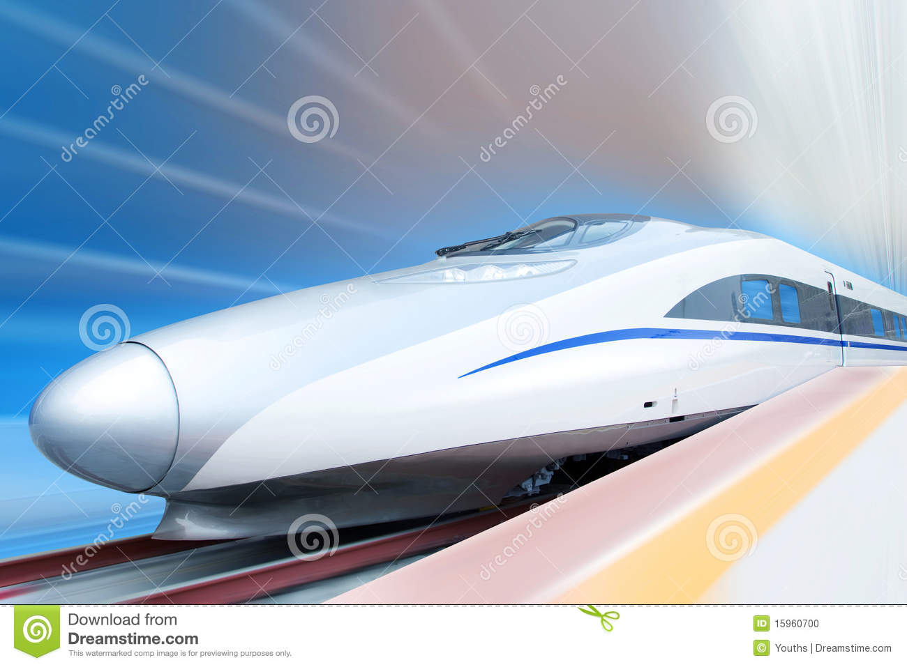 High Speed Train (clipping path)