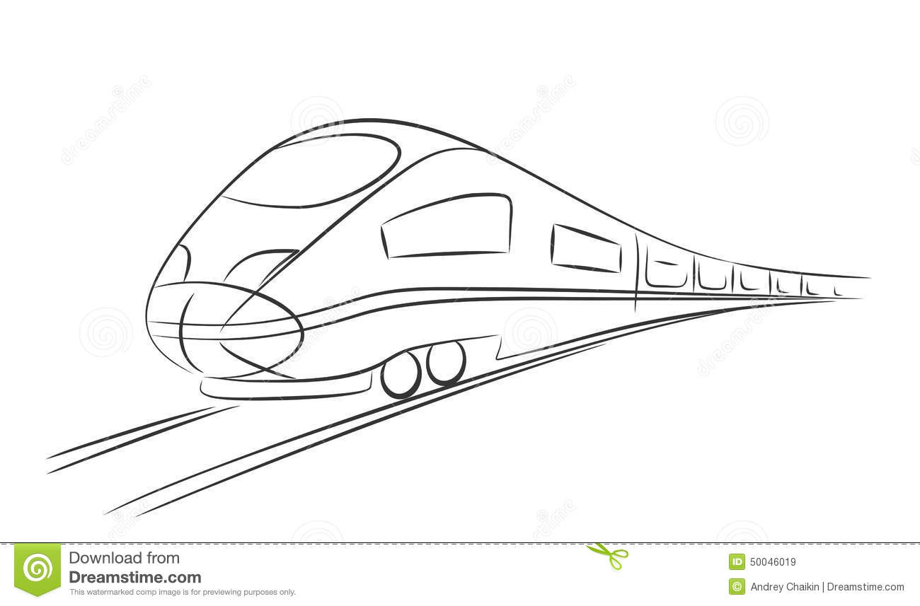 How To Draw A Bullet Train For Kids