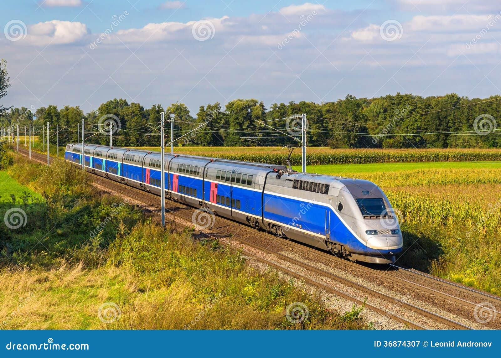 high speed train strasbourg paris france royalty free stock photography image 36874307. Black Bedroom Furniture Sets. Home Design Ideas