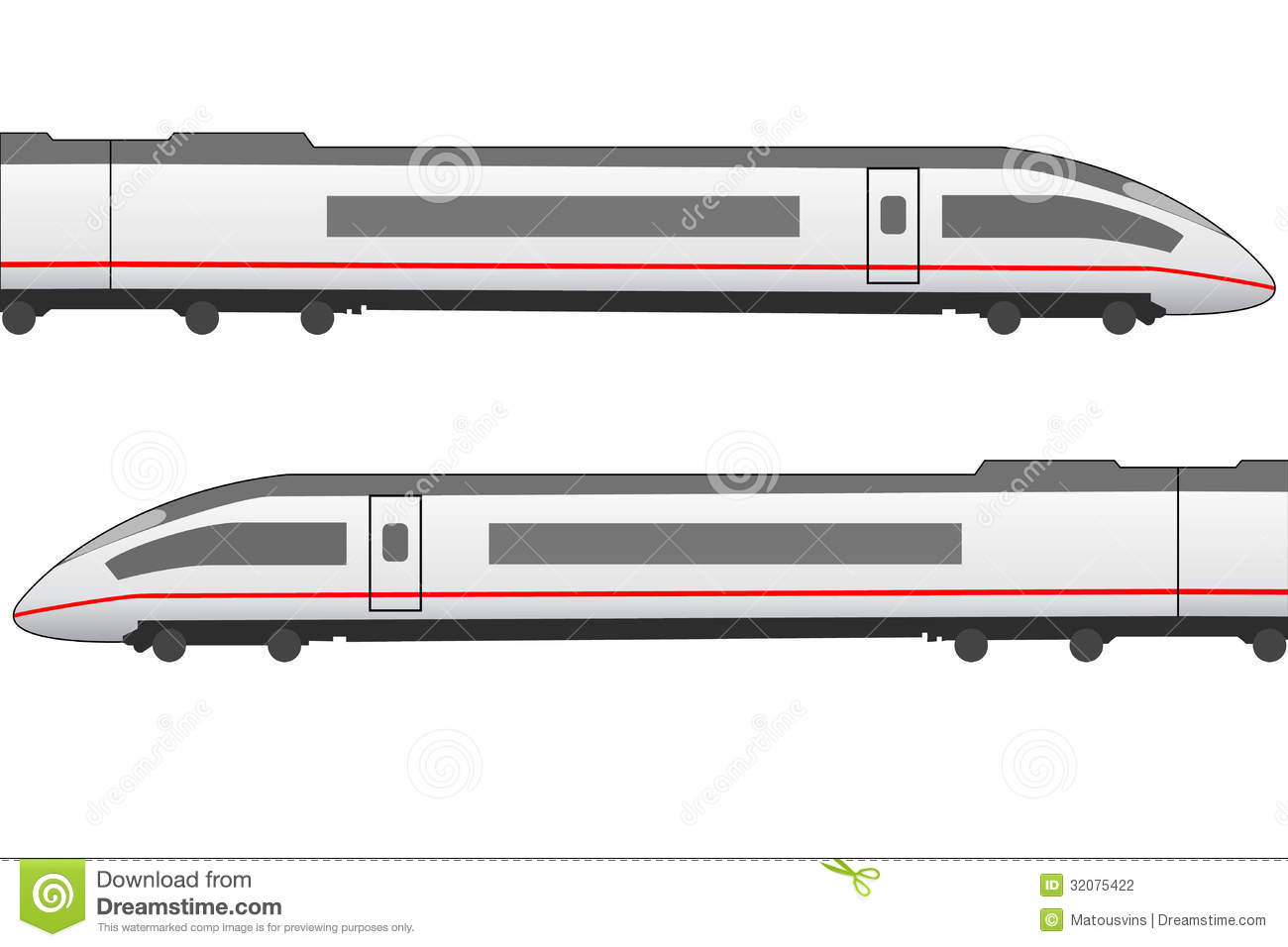 High Speed Trainset Side View Stock Illustration ...