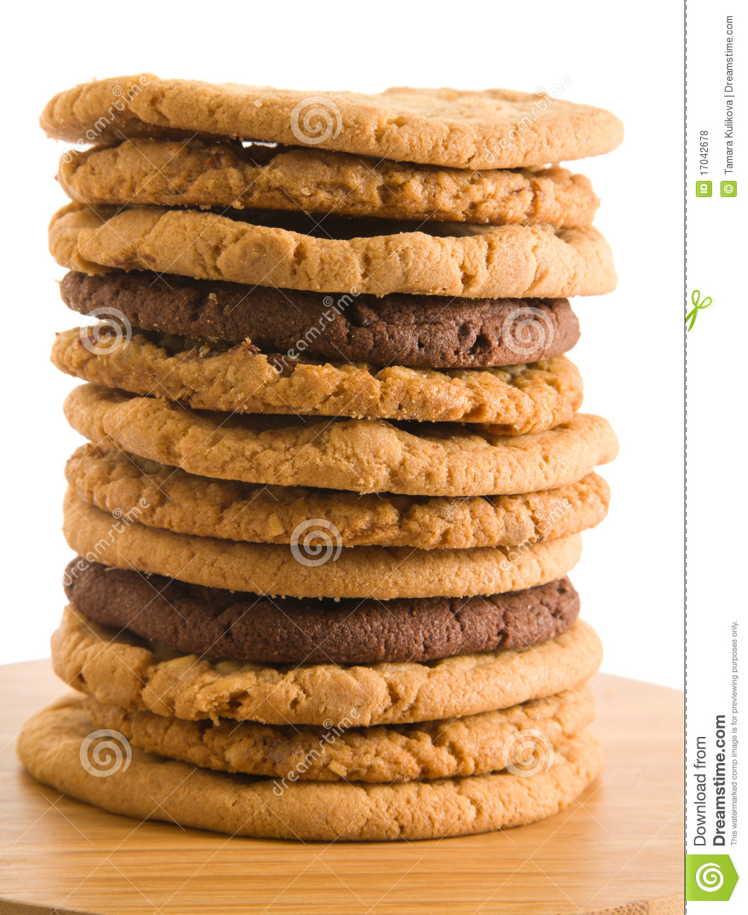 High Stack Of Different Types Of Cookies Royalty Free