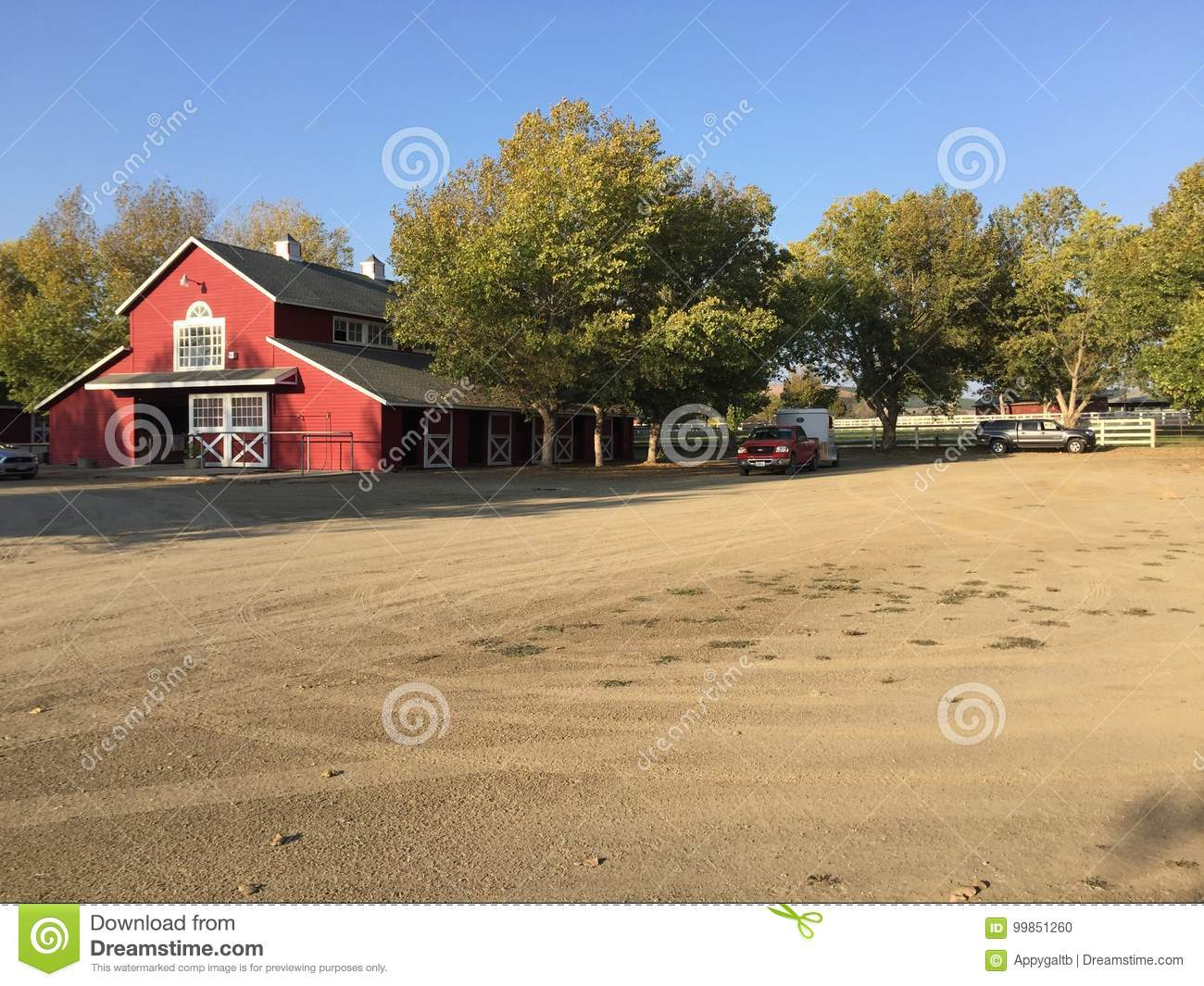 High Star Farms Los Alamos California Stock Photo Image Of Barns