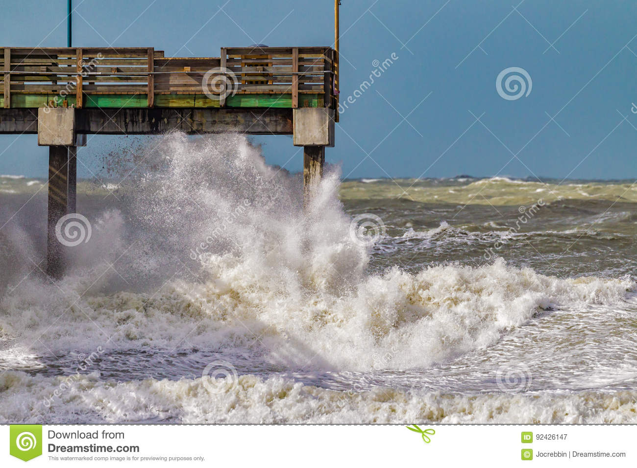 High Surf Pounds Venice Coastline Due To El Nino During January 2016