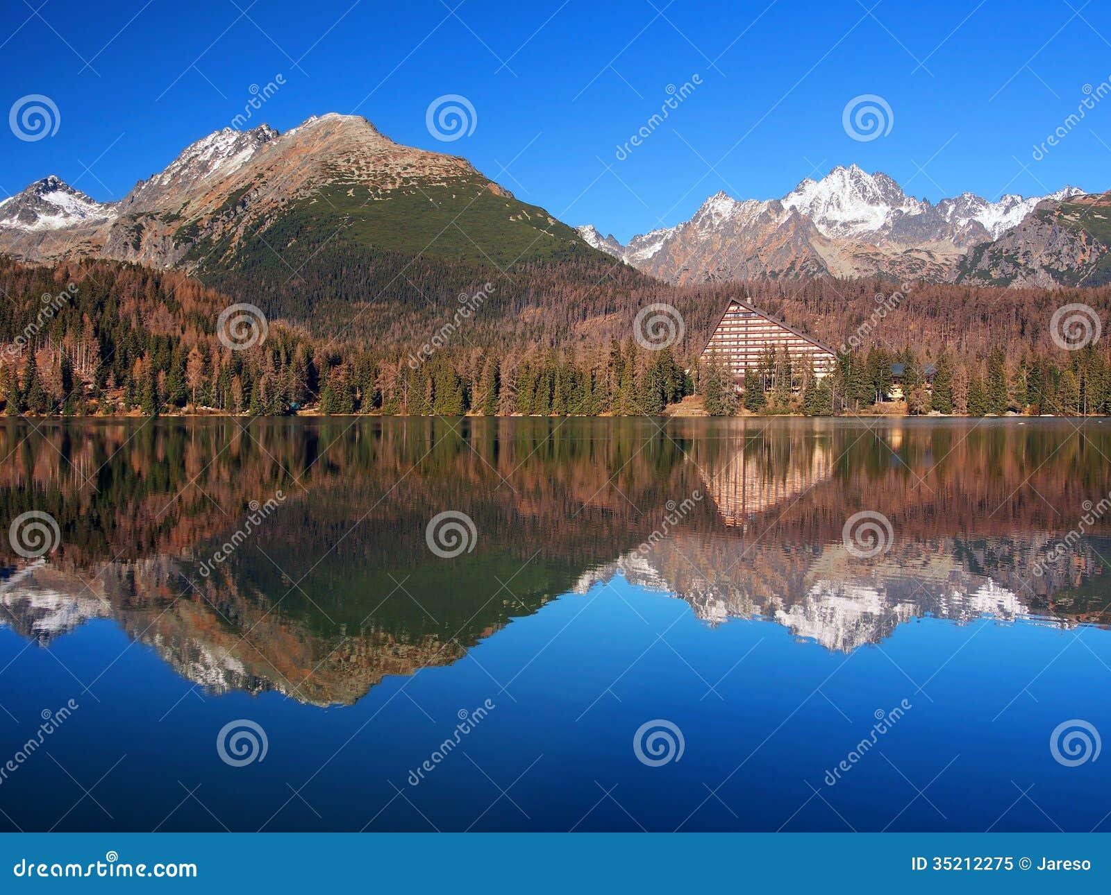 High Tatras reflected in Strbske Pleso