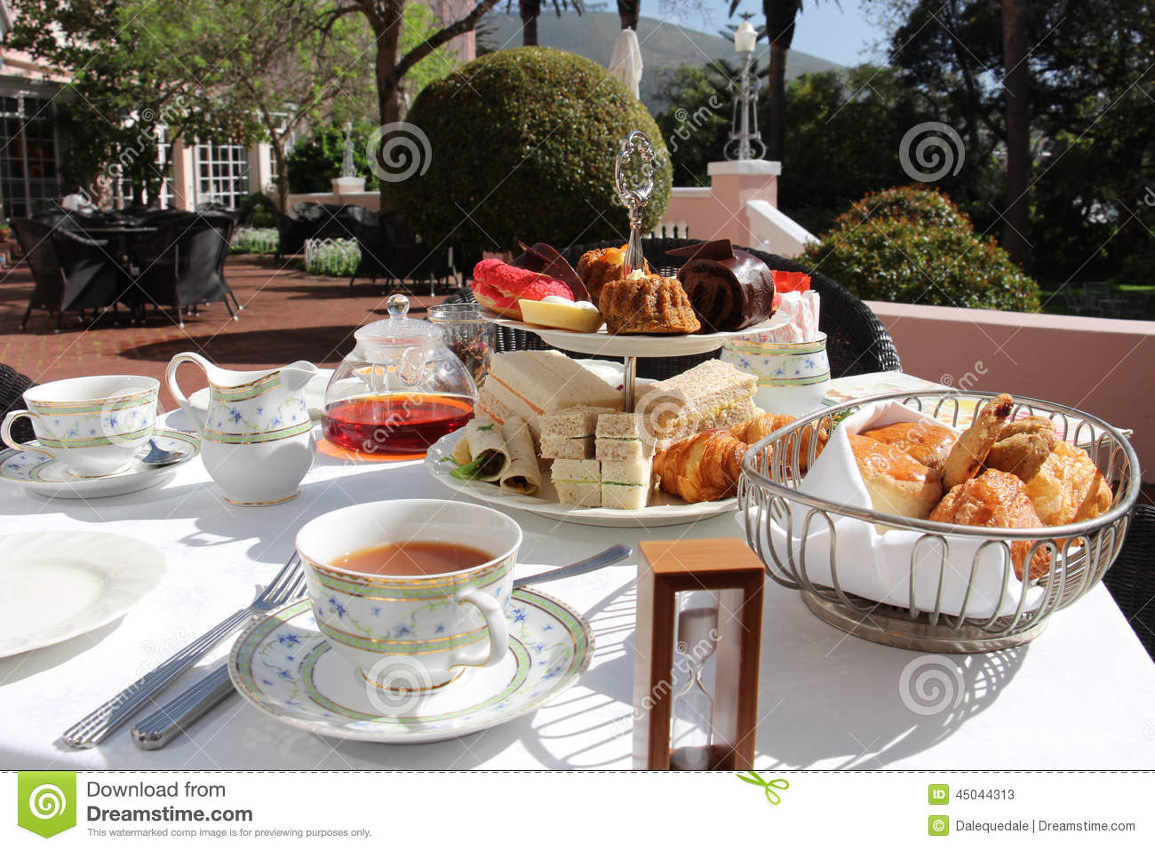 High Tea Time Stock Image Of Lunch Cakes Pastry