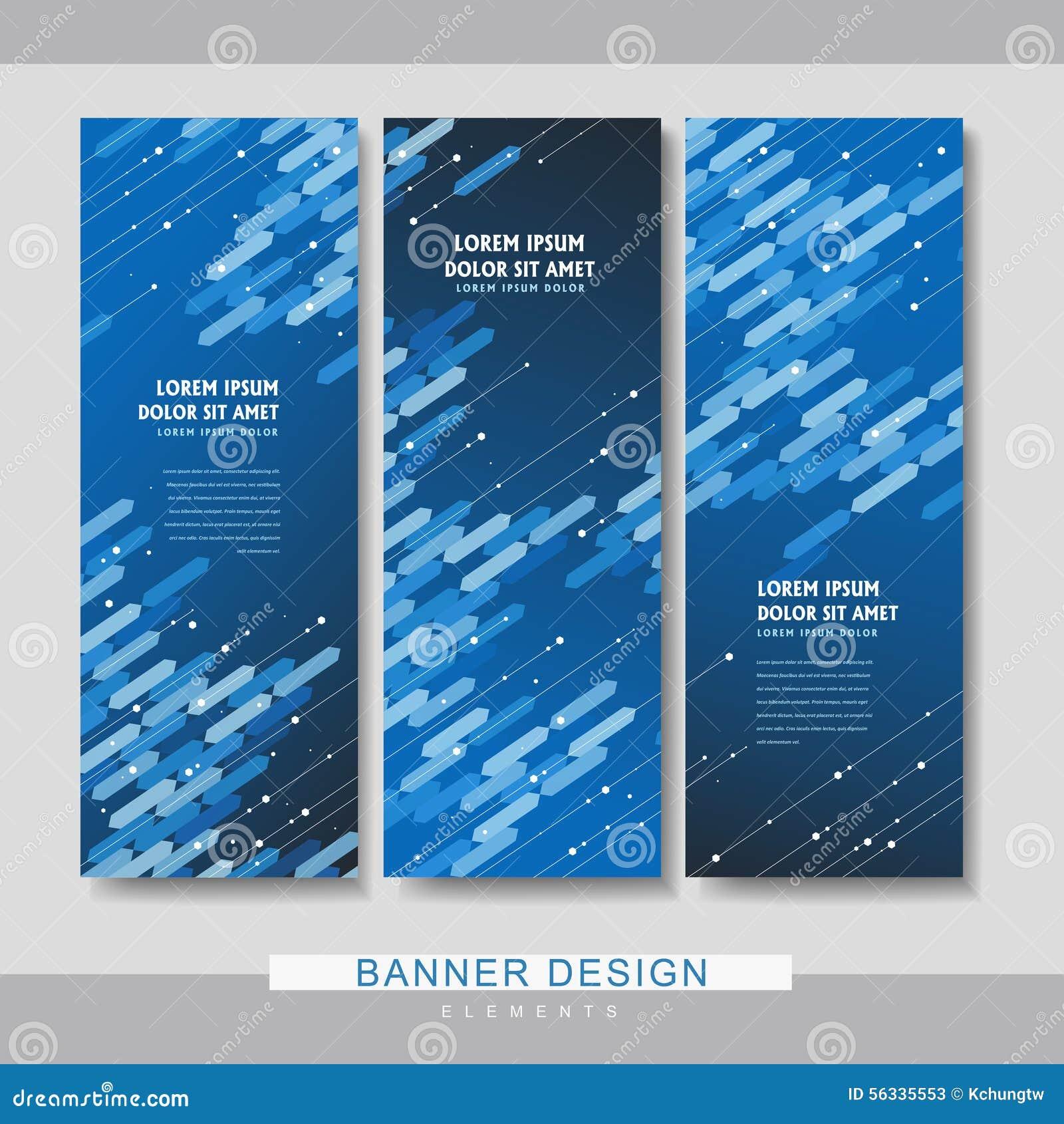 high tech banner set template design stock vector image 56335553. Black Bedroom Furniture Sets. Home Design Ideas