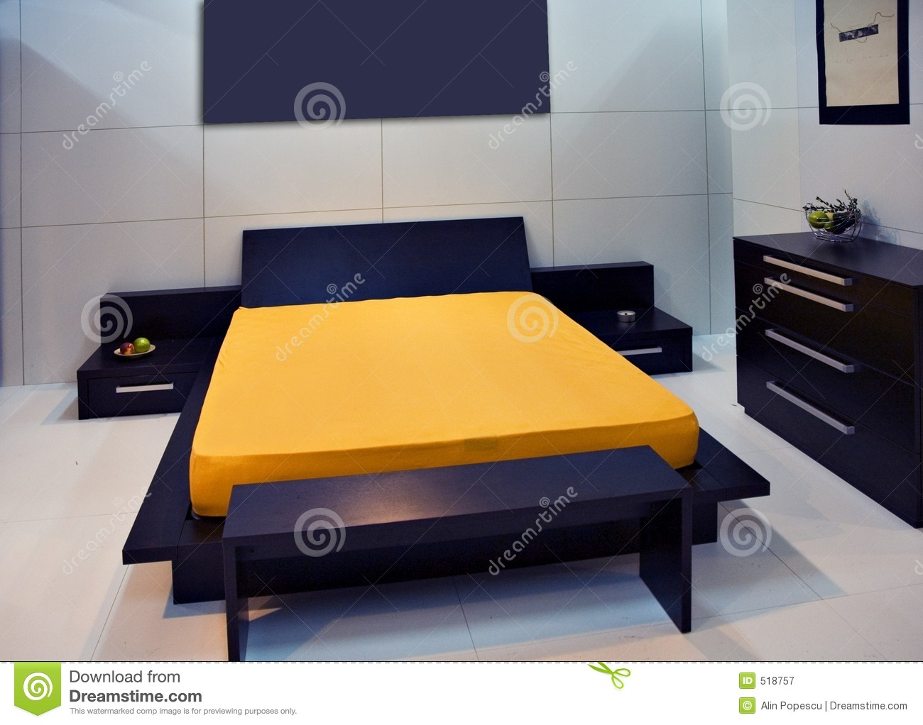 High Tech Bedroom Royalty Free Stock Photography Image