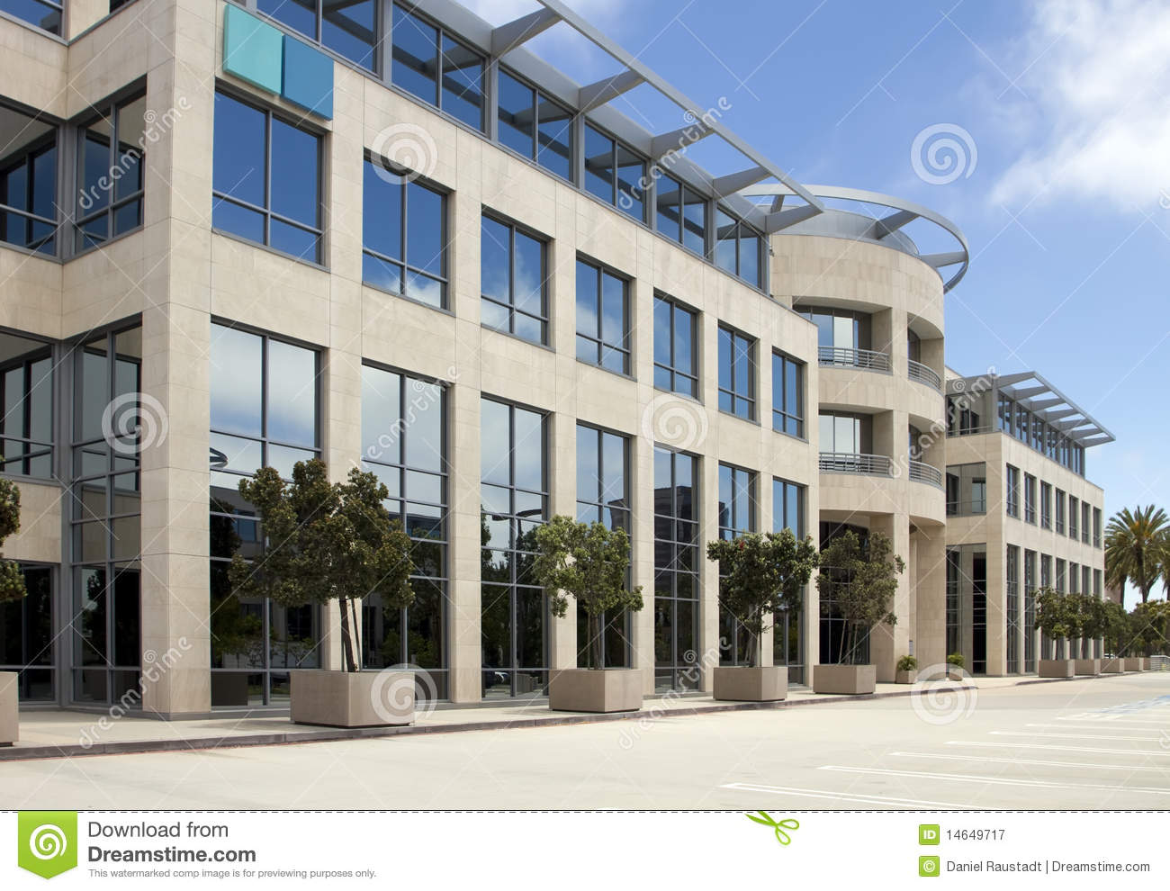 High tech corporate office building in california royalty for Modern tech office