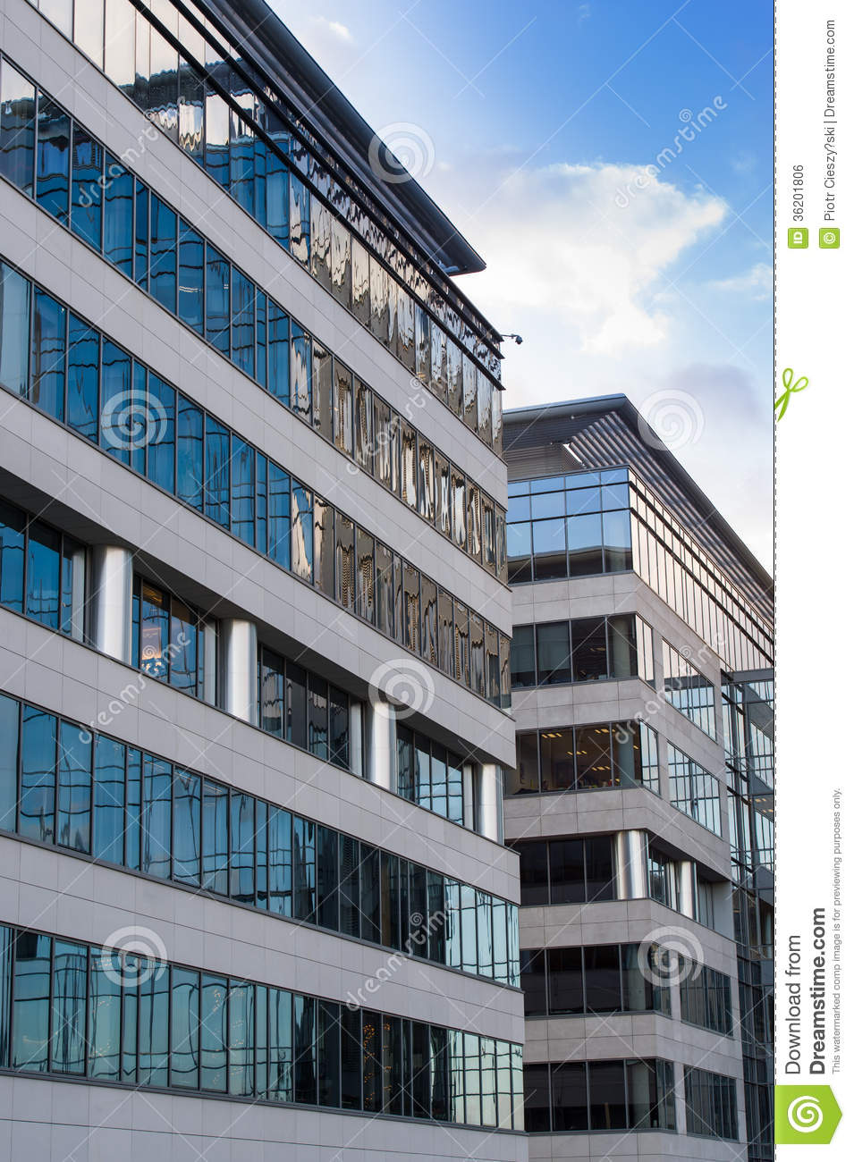 High Tech Corporate Office Building Royalty Free Stock