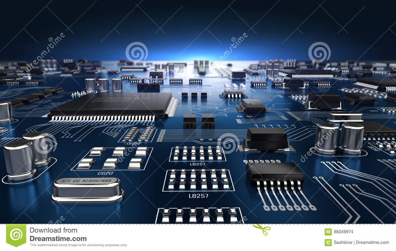 High Tech Electronic Pcb Printed Circuit Board With Processor And World Technical Version 30 Layout Tool Microchips