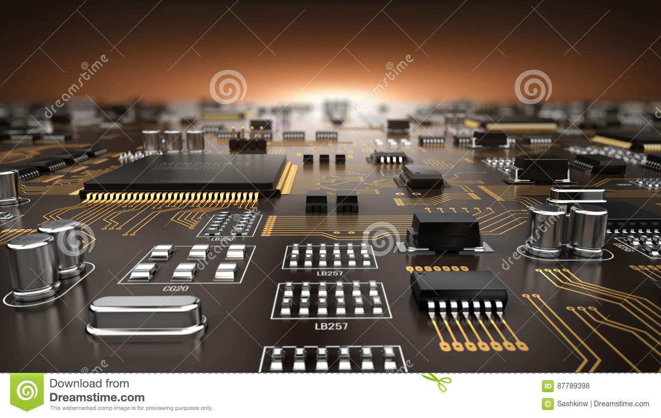 Printed Circuit Board Stock Illustrations 3460 And Binary Code Vector Clipart Transmission Of Vectors Dreamstime
