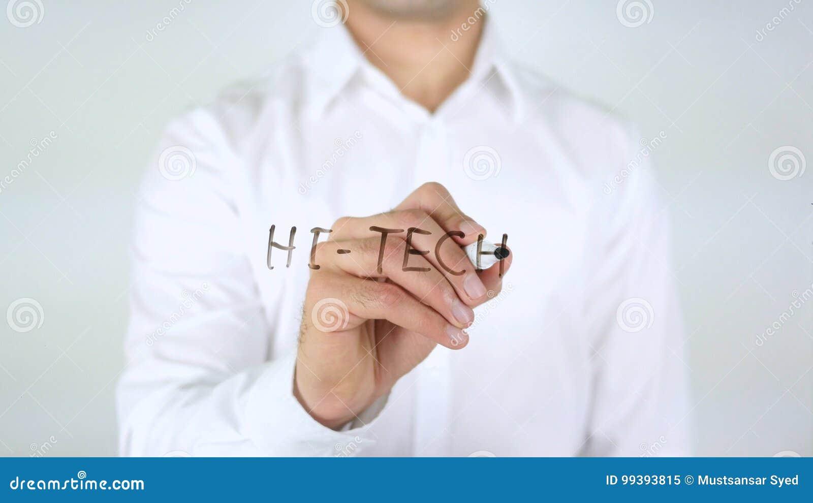 High-Tech, Geschäftsmann Writing auf Glas