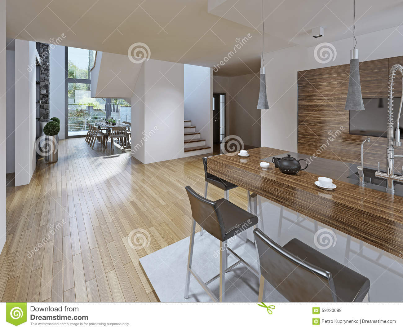 Kitchen Dining Counter 5