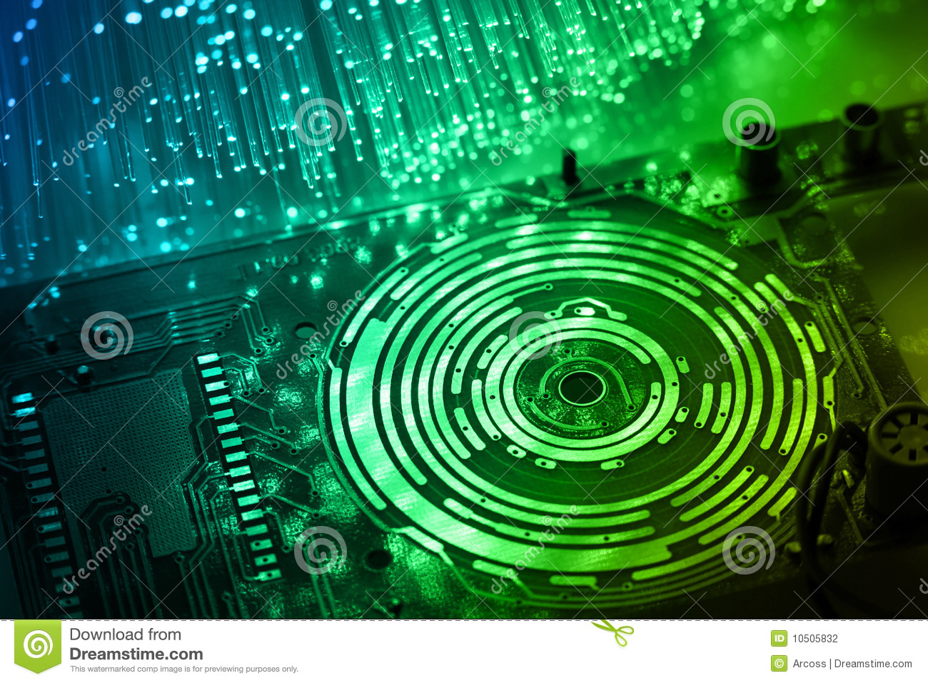 High Tech Technology Background Stock Photography Image