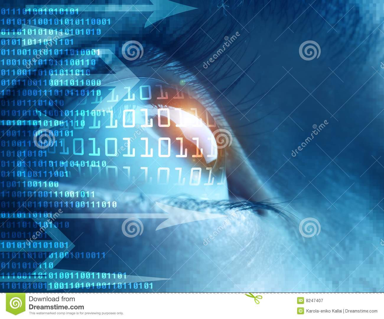 Technology Management Image: High-tech Technology Background Stock Image
