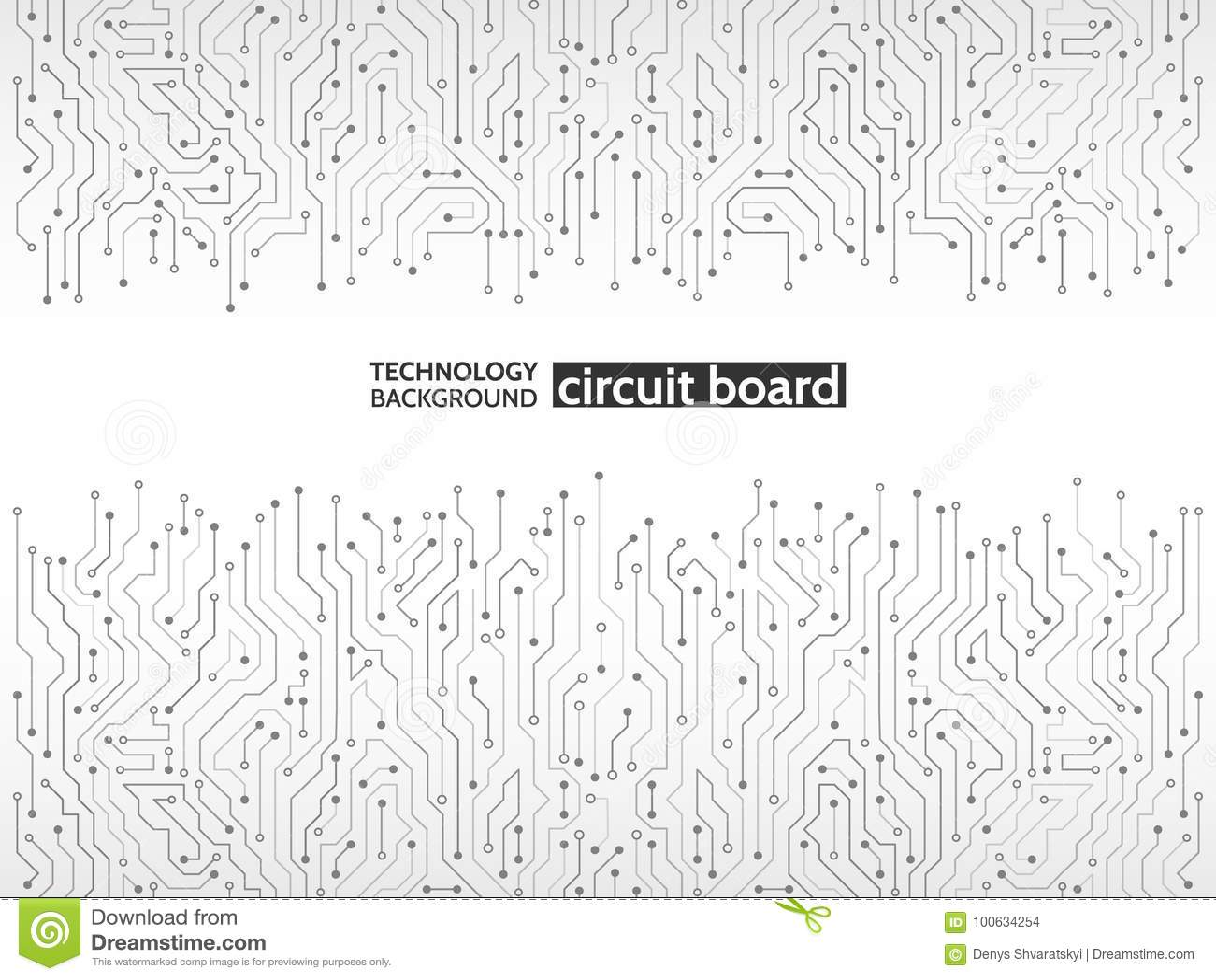 circuit board vector illustration  stock vector