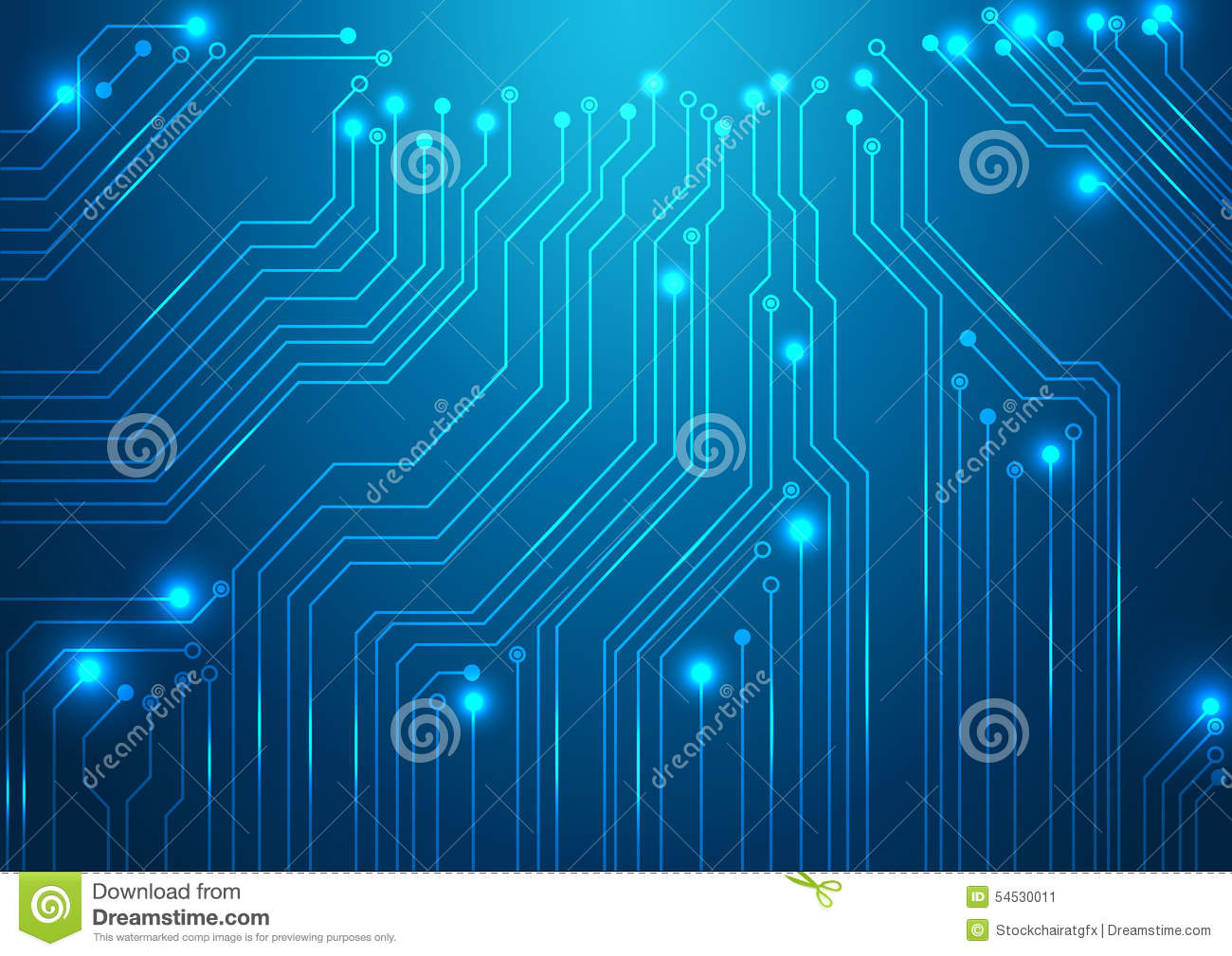 Futuristic Hi Tech Background Vector: High Tech Vector Background Stock Vector