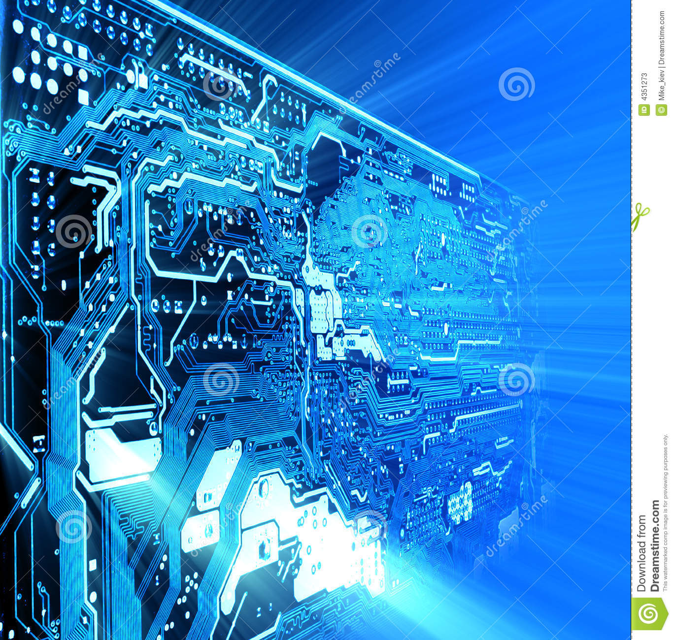 Technology Management Image: High Technology Background Stock Photos