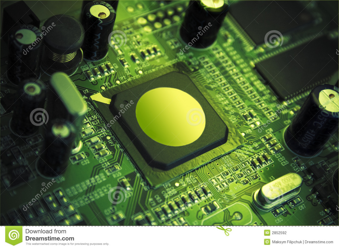 High Technology Chip Stock Photography Image 2852592