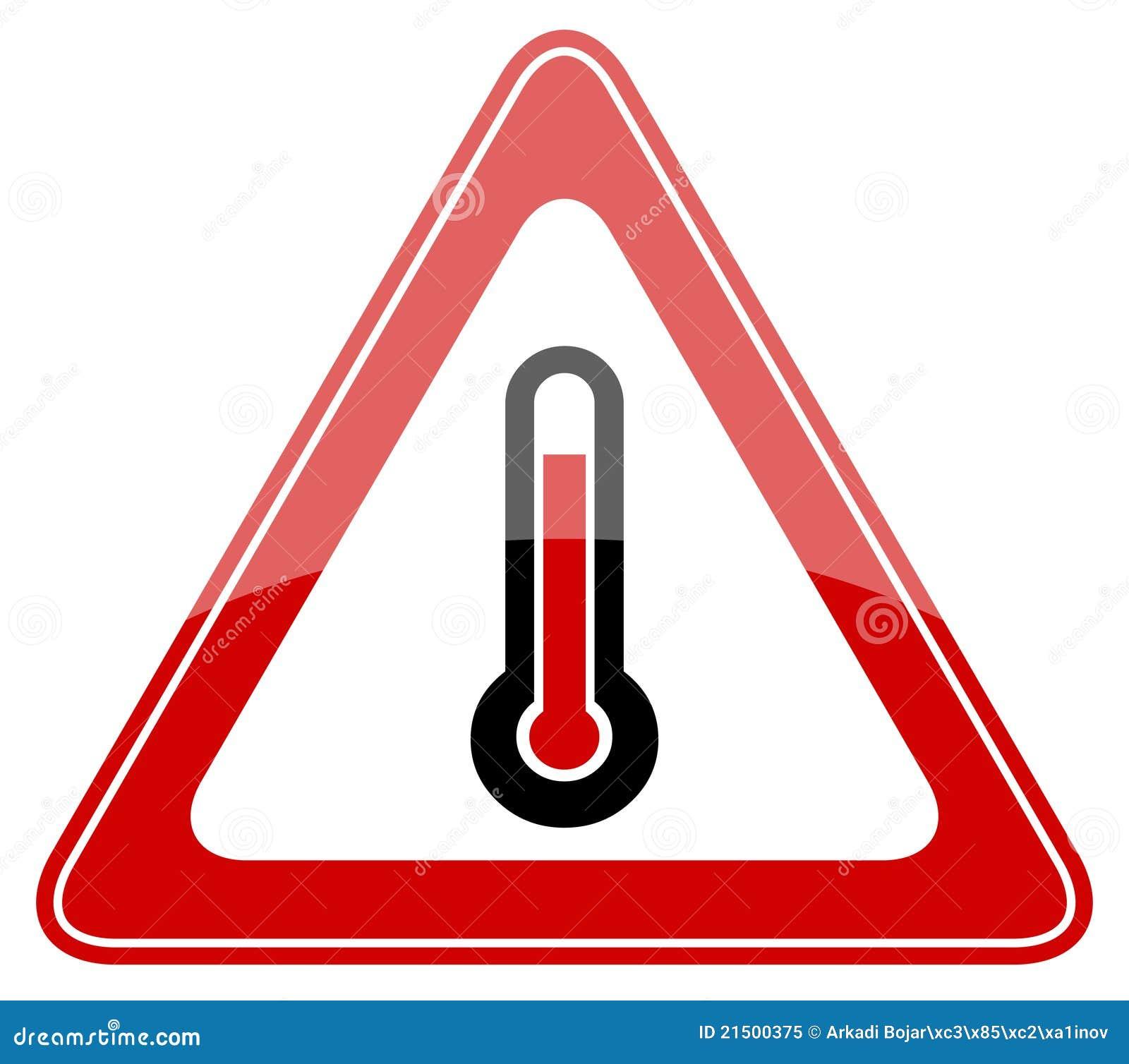 High Temperature Warning Sign Cartoon Vector | CartoonDealer.com ...
