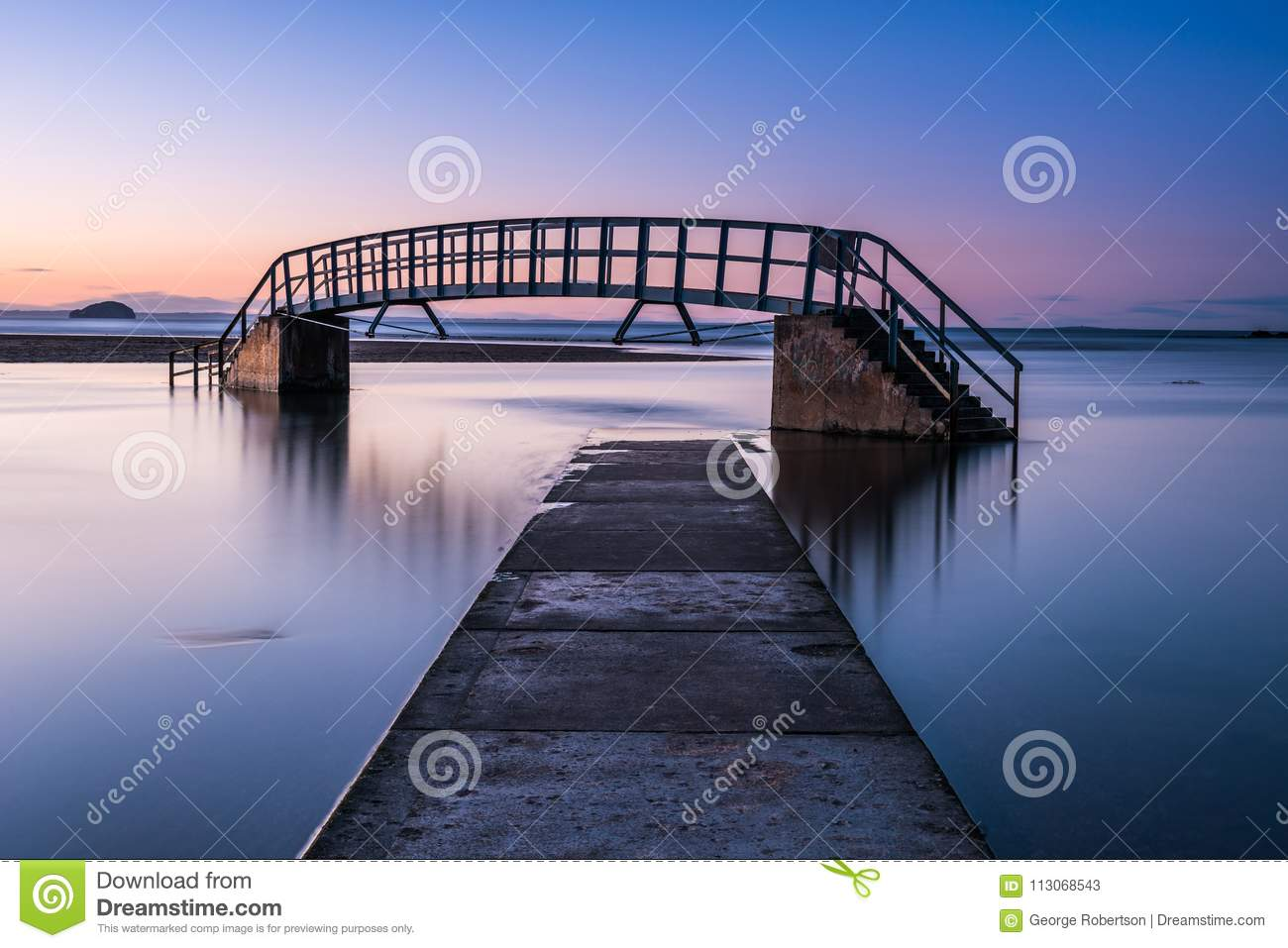 High Tide At The Bridge To Nowhere Stock Image - Image of bass