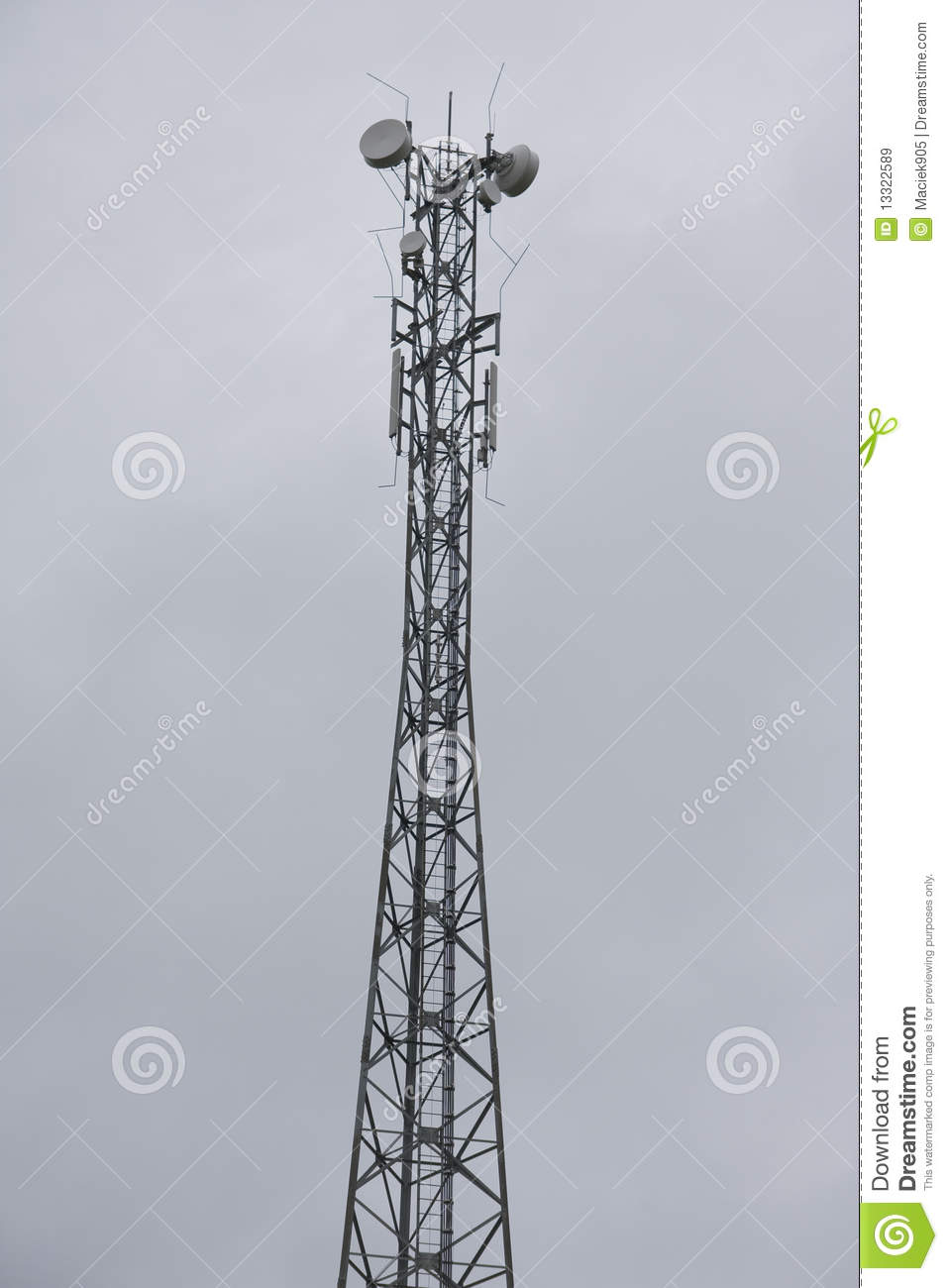 High transmitter tower