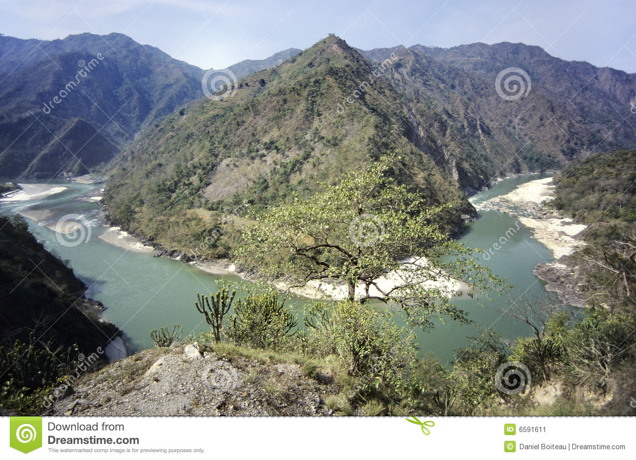High valley ganges river stock image. Image of green ...