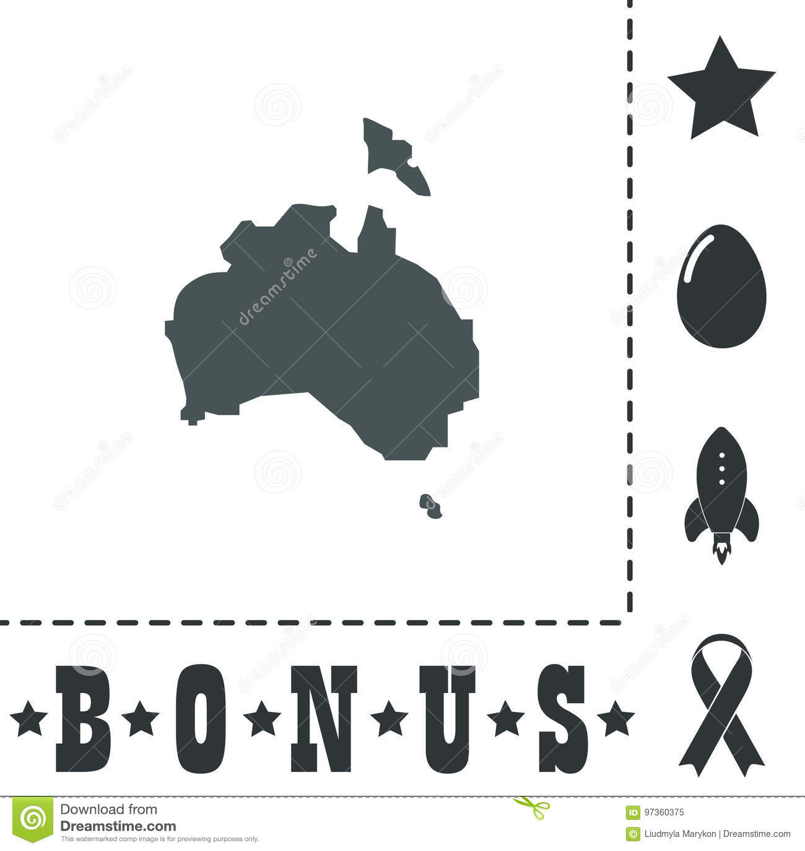Australia Map Icon.High Vector Map Australia Stock Vector Illustration Of Abstract