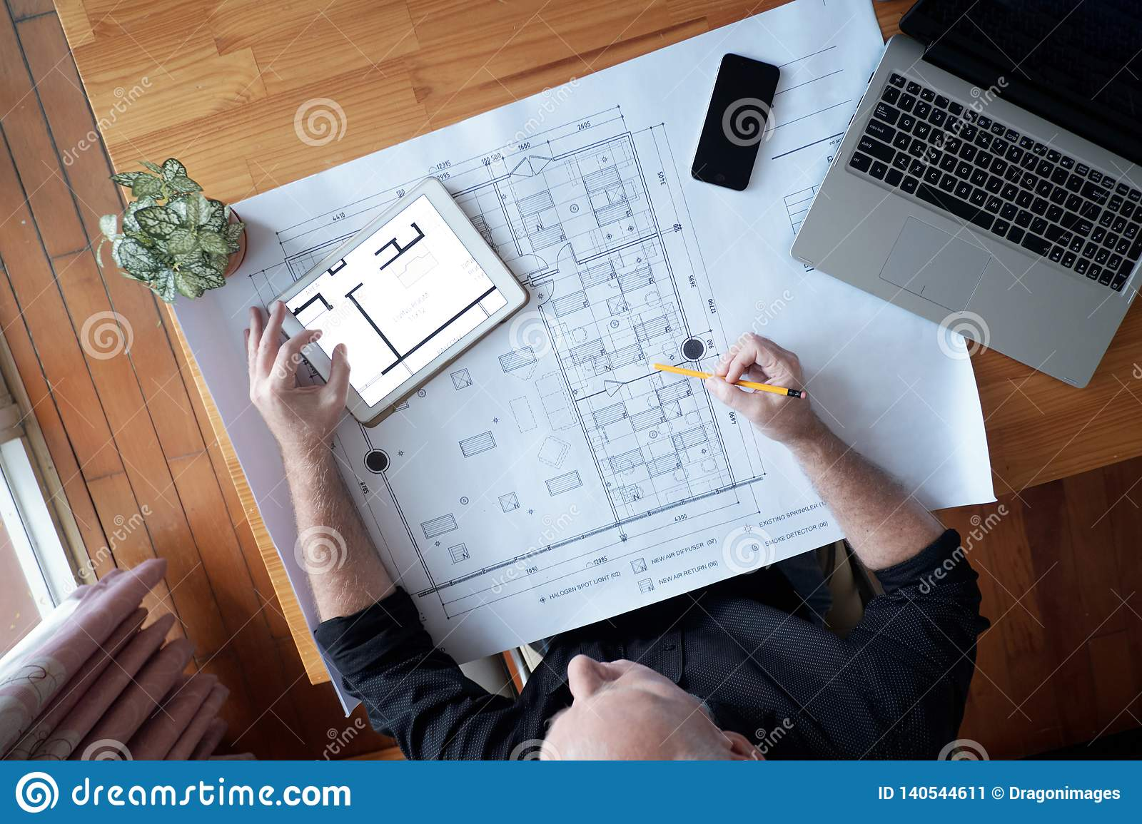Architect developing new construction project