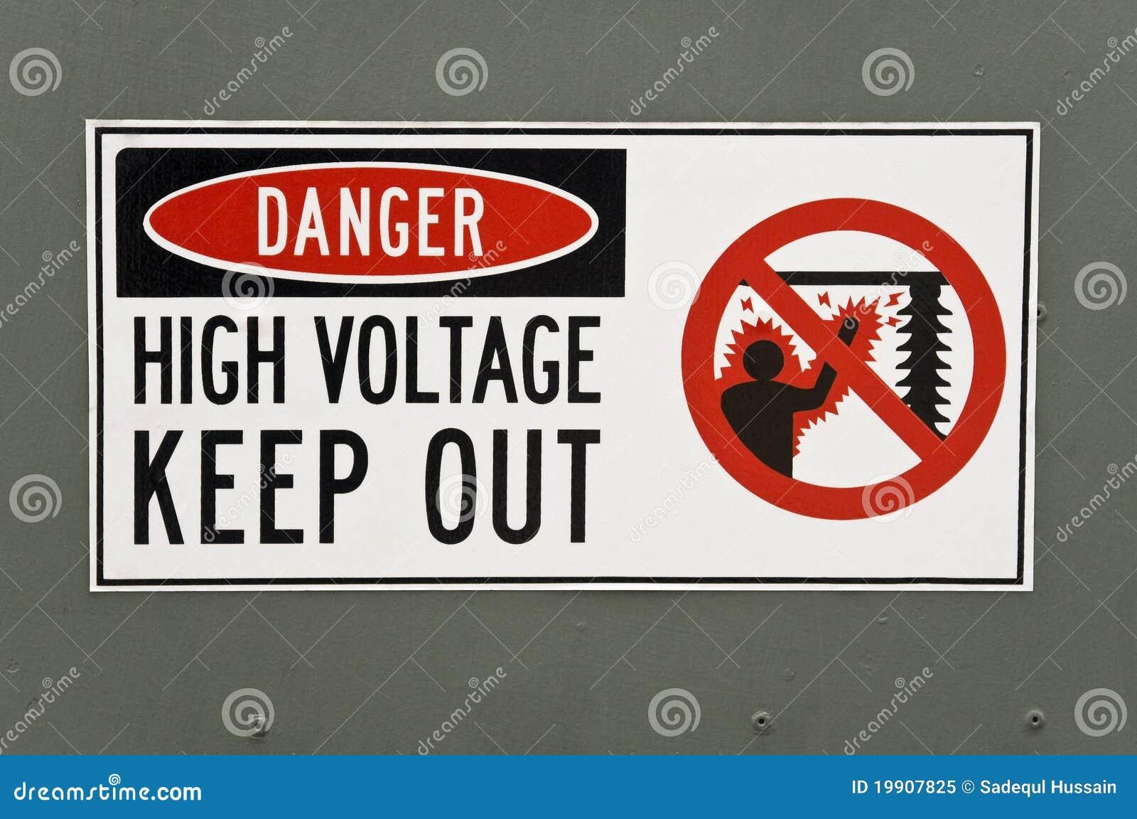 High Voltage Danger Sign stock image. Image of hazardous - 19907825