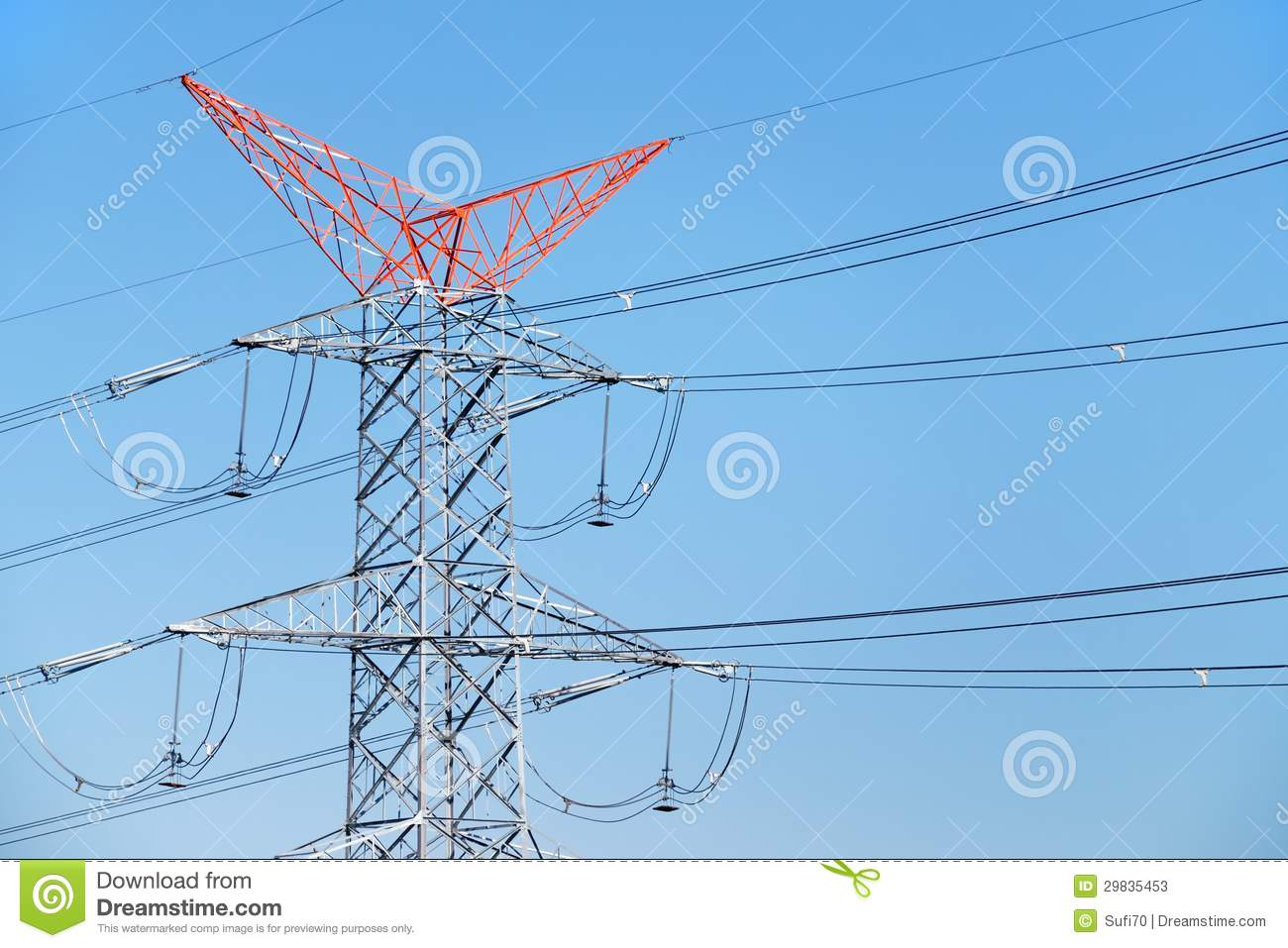 High Voltage Transmission Line Cable : Energy distribution lines stock photos image