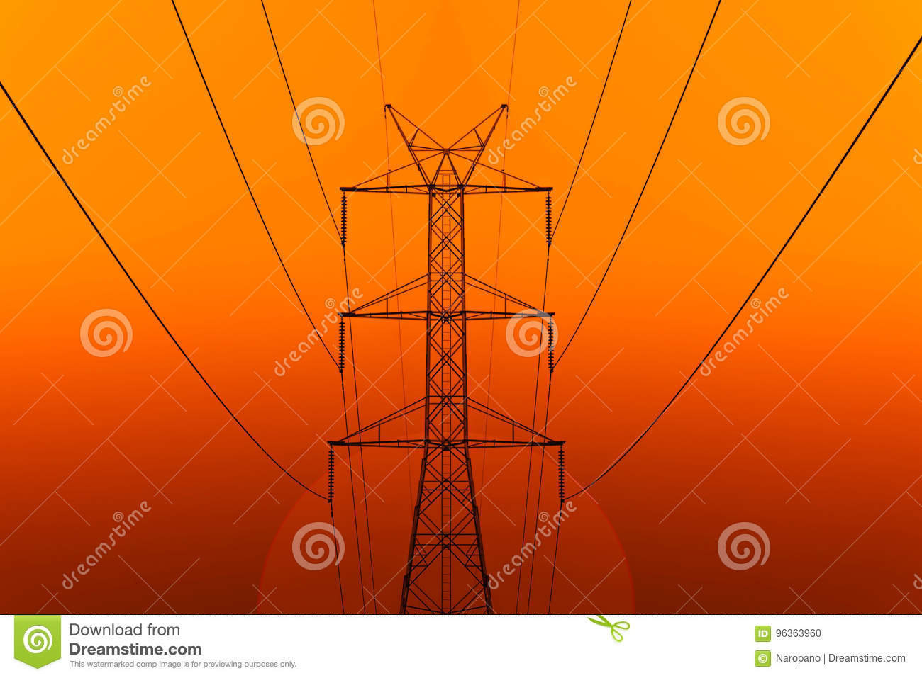 High Voltage Electric Transmission Tower Energy