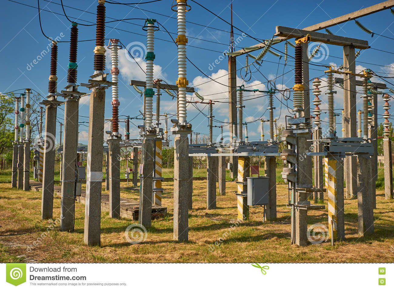High voltage equipment stock image  Image of closeup - 71305299
