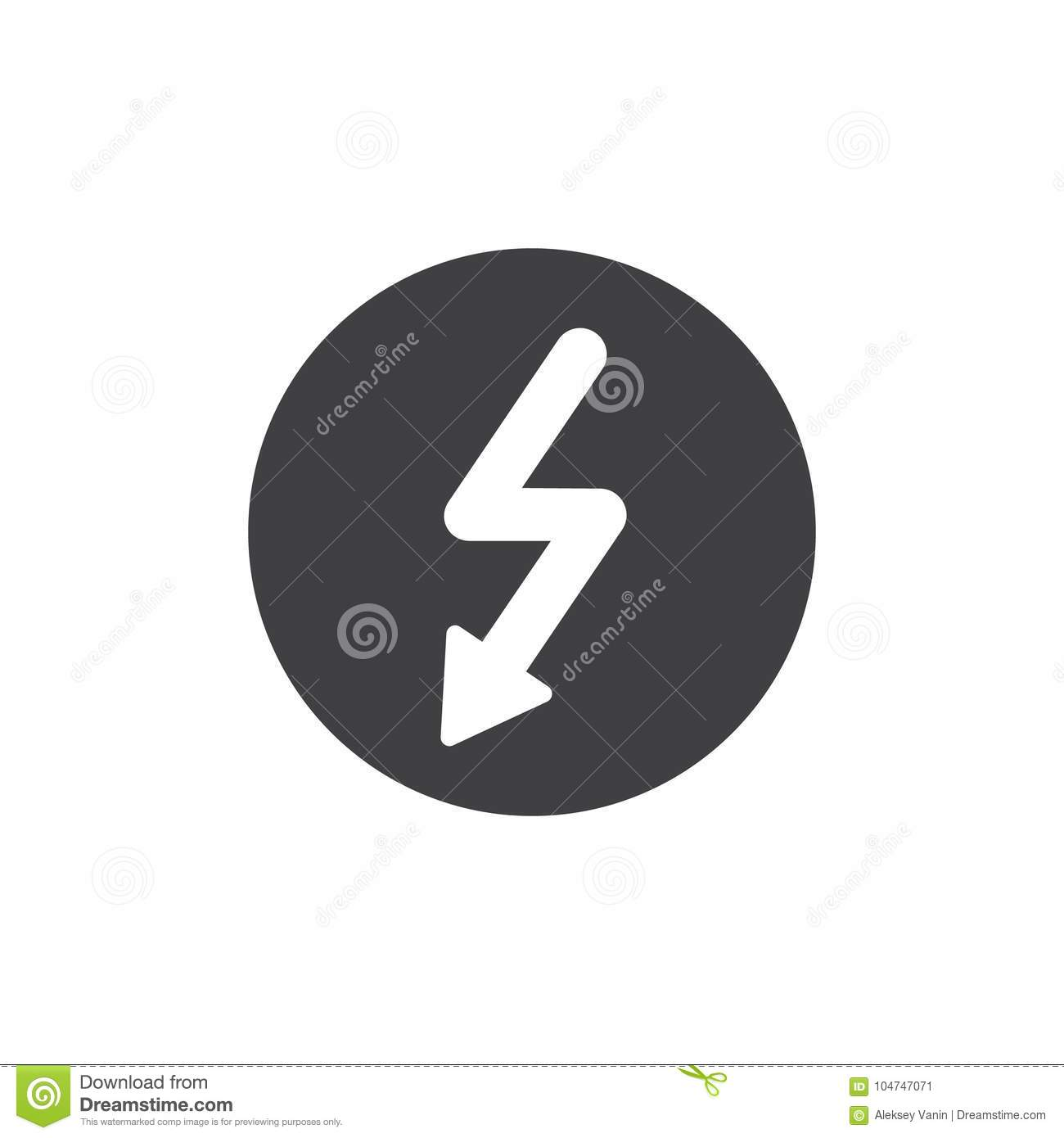 High voltage icon vector stock vector. Illustration of flash - 104747071