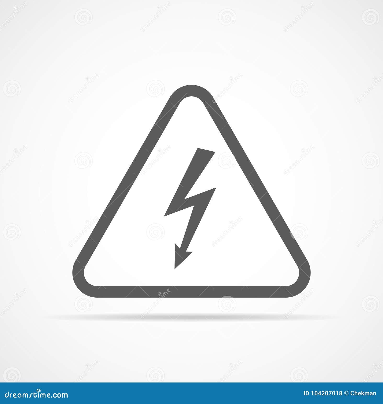 High Voltage Icon Vector Illustration Stock Illustration