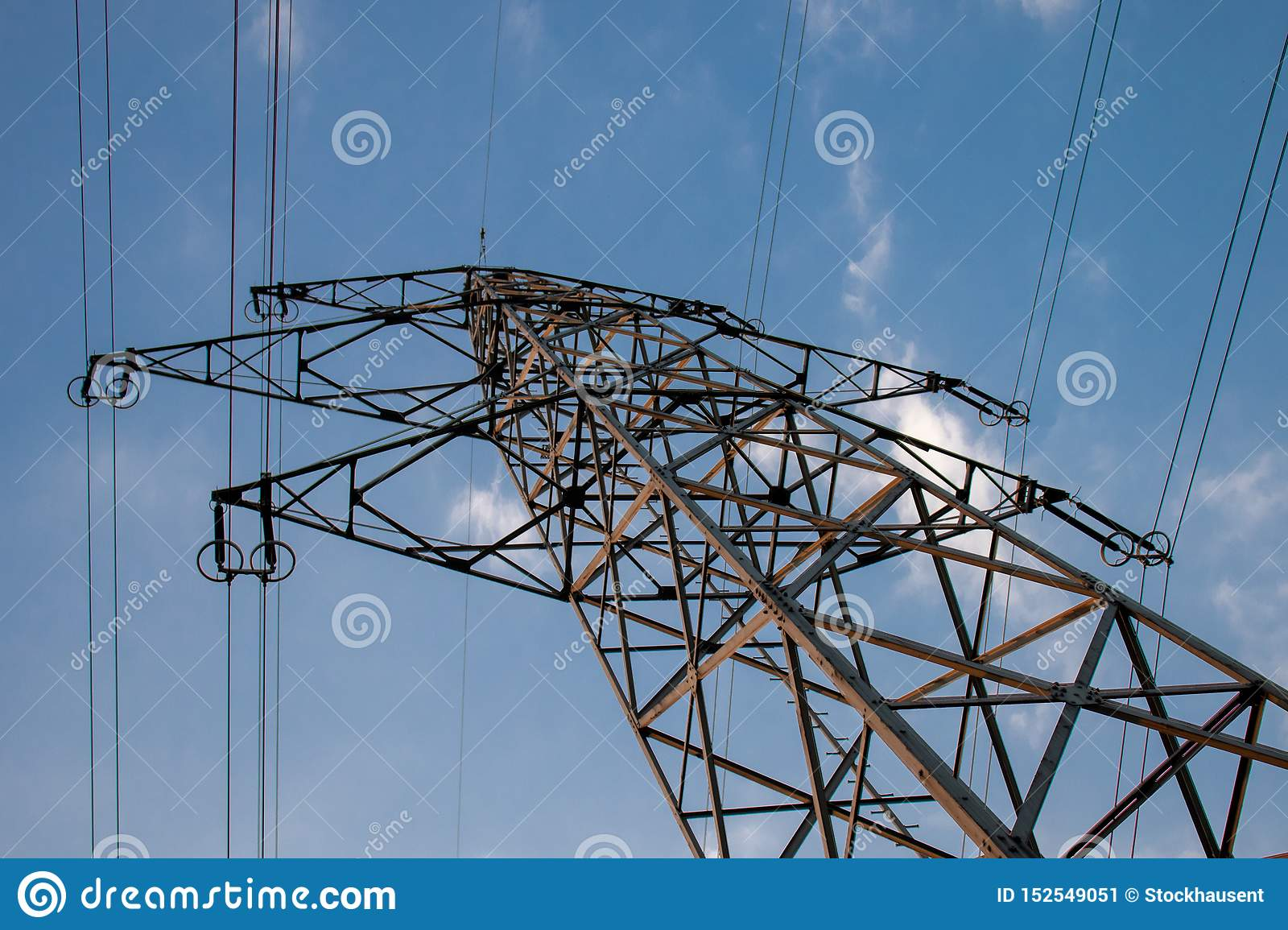 High voltage line, enery for people