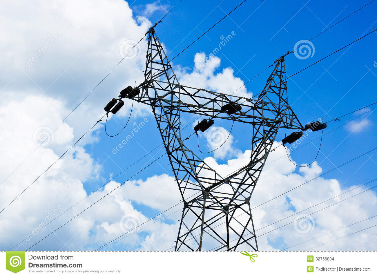 High Voltage Pole Stock Images - Image: 32756804
