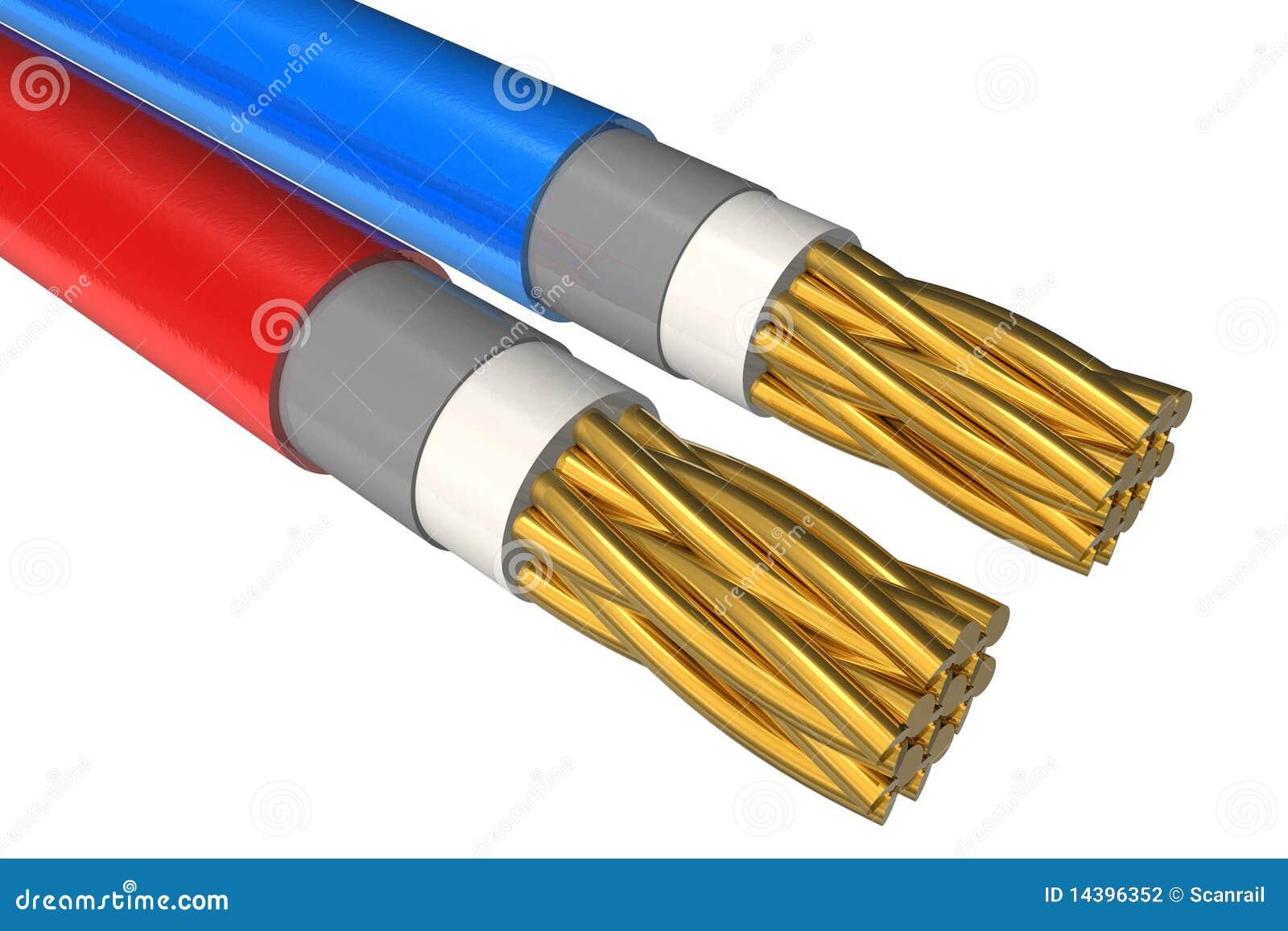 High Voltage Power Cable : High voltage power cable close up stock illustration