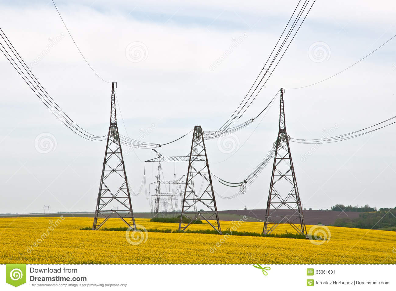 High Voltage Electrical Lines : High voltage power line stock image of