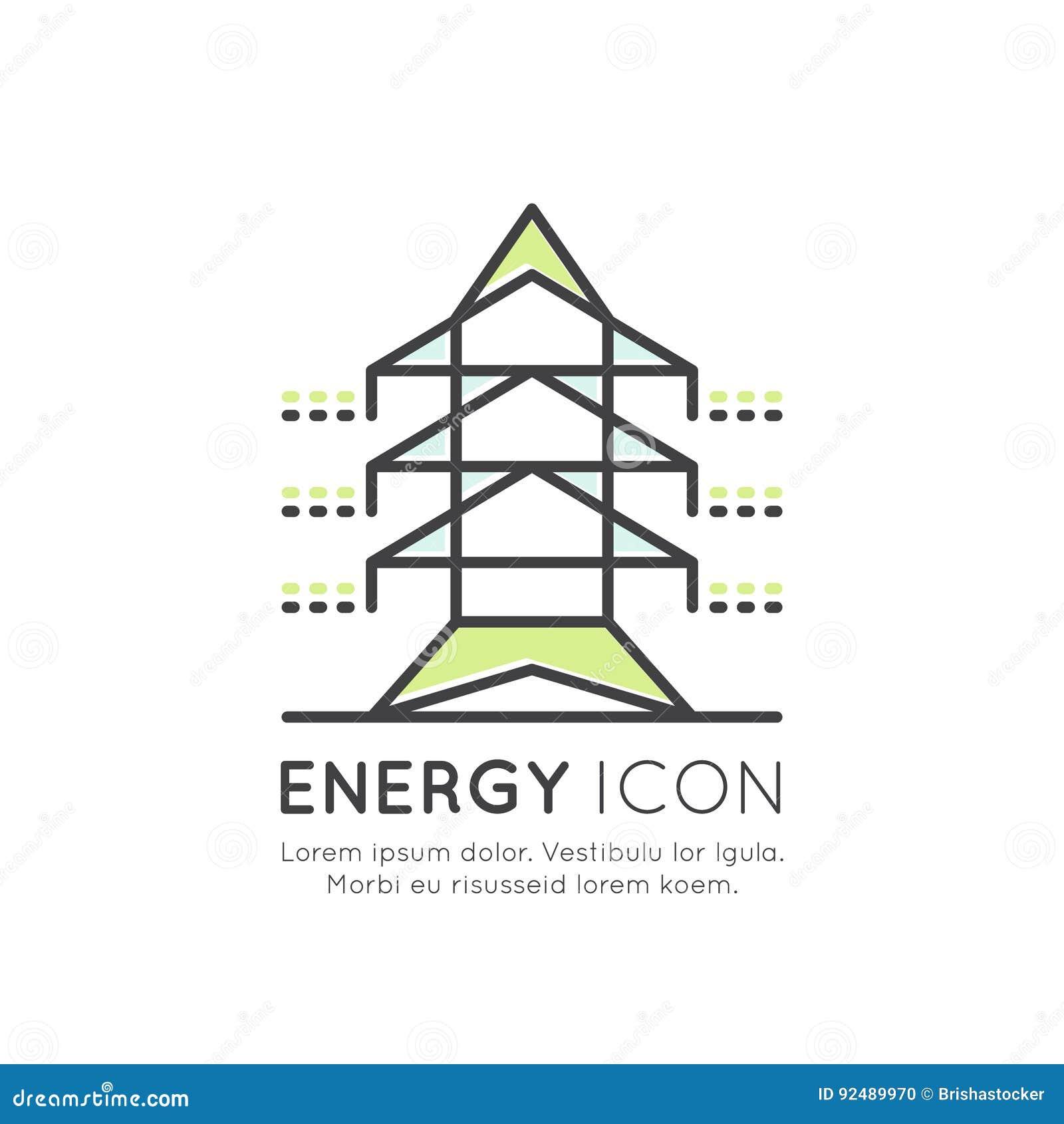 High Voltage Power Line Transmission Tower Or Pylon, Energy Saving ...