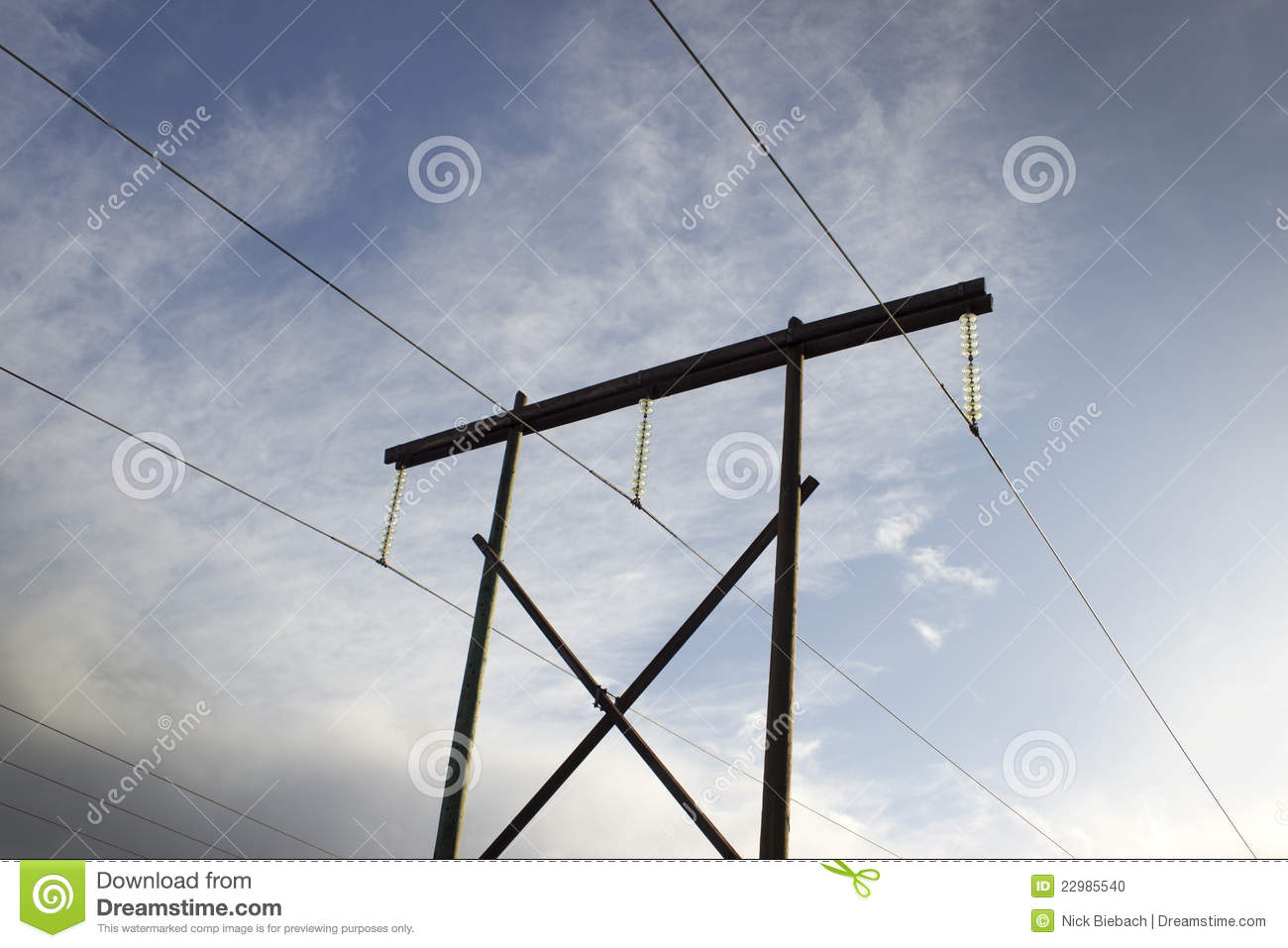 High Voltage Electrical Lines : High voltage power lines stock photo image