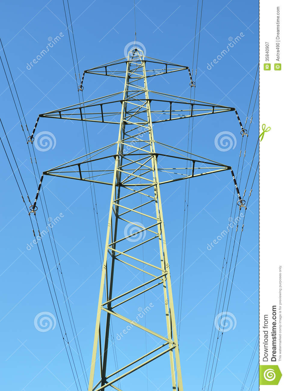 High Voltage Electrical Lines : High voltage power lines royalty free stock photography