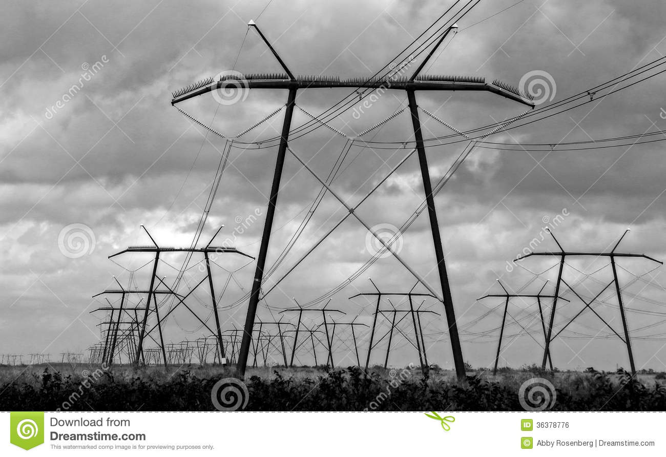 High Voltage Power Lines Royalty Free Stock Image Image