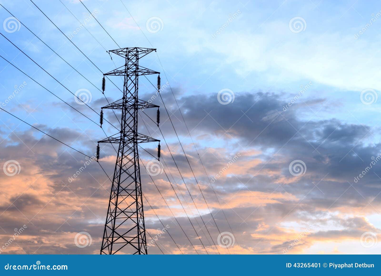 High Voltage Power Lines : High voltage power lines stock photo image