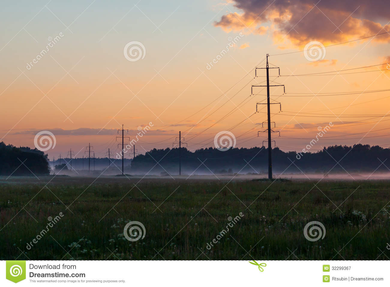 High Voltage Power Lines Royalty Free Stock Photography ...