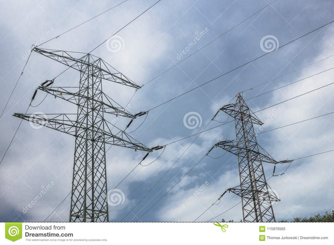 High-voltage power lines